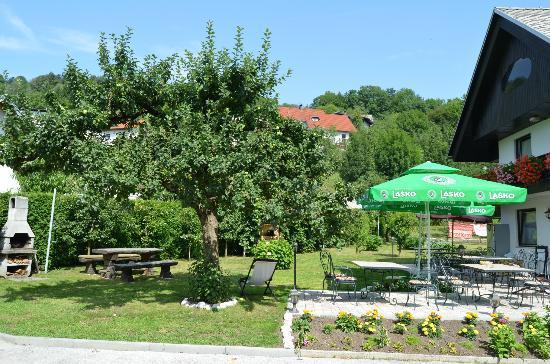 Penzion Apartmaji Preseren: The terrace/garden