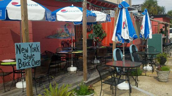 Crust Pizzeria: See fireworks from back deck