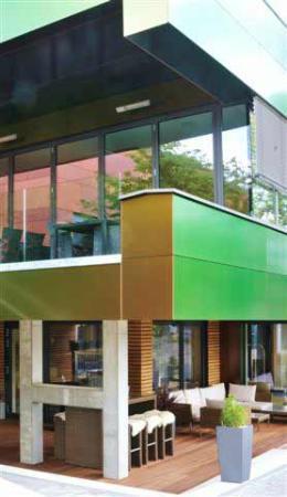 Hotel Central Hof . Partner of SORAT Hotels: Oben Restaurant, unten Terrassen-Lounge
