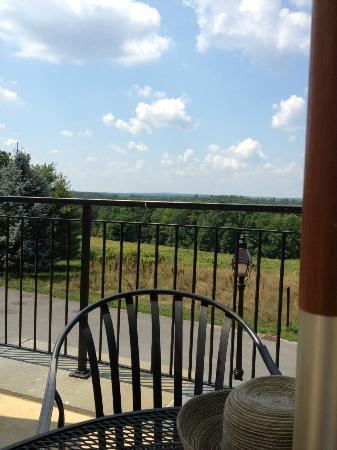 Tower Hill Botanic Garden: View from the outdoor patio at