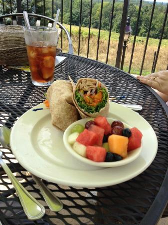 Tower Hill Botanic Garden: veggie wrap