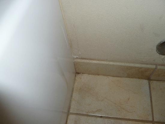 Candlewood Suites Pearl: Dirt in corner of bathroom