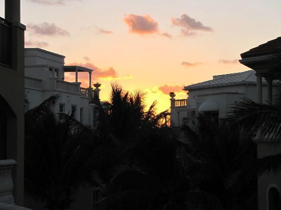 The Somerset on Grace Bay: sunset from our terrace