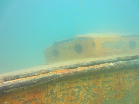 Huntsville, TX: Sunken Boat in Lagoon 1