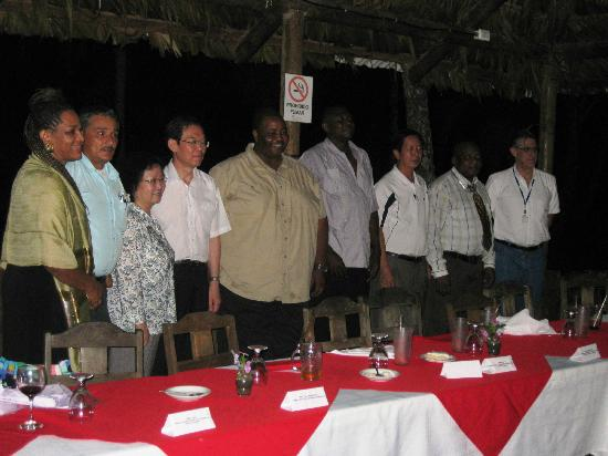 Hotel Playa Westfalia: Mayor of Limon (5th from left)