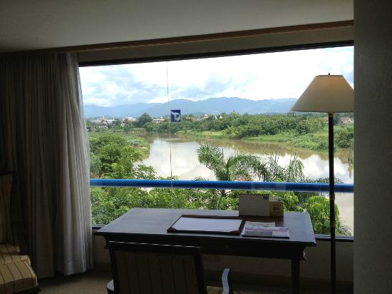 Dusit Island Resort Chiang Rai: View from my Landmark Suite bedroom