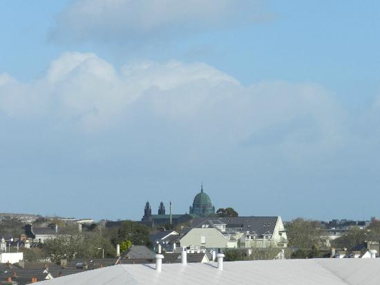 Arus Grattan Apartments: Galway Cathedral from the bedroom patio