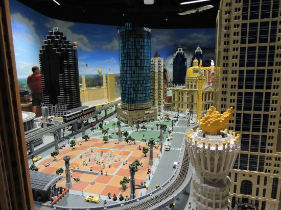 Downtown Atlanta made out of Legos