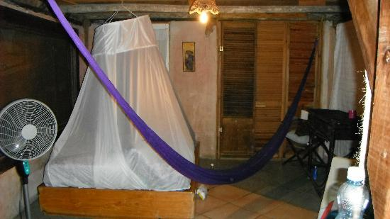 Casitas Kinsol: our room with hammock and mosquito net
