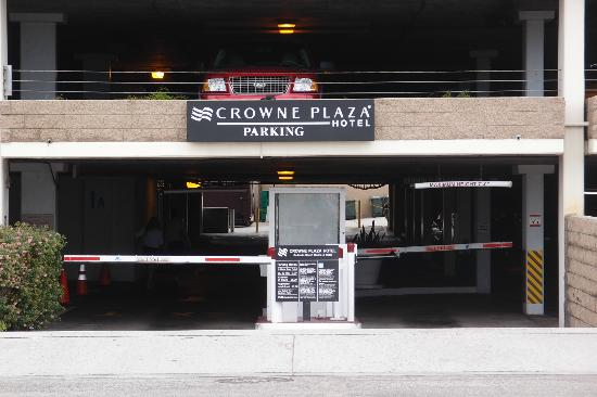 Crowne Plaza Redondo Beach & Marina: Hotel's secure (but expensive) parking