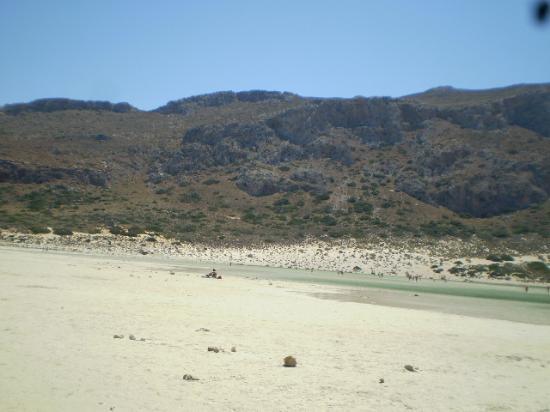 Balos Lagoon : spiaggia biamca