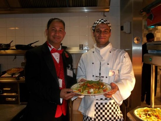 Ashton-under-Lyne, UK: with chef at the house of commons