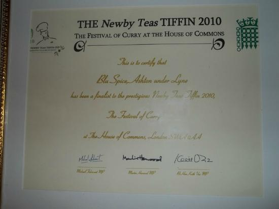 Ashton-under-Lyne, UK: Newby Tiffin Award