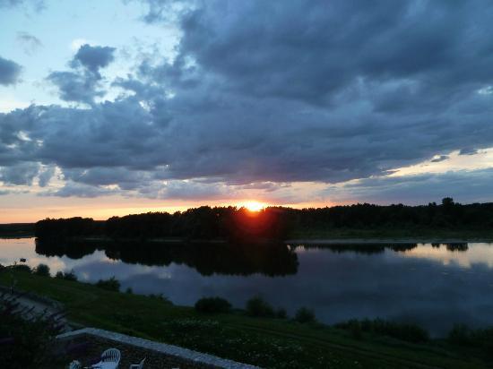 Manoir Bel Air : Blick von Terrasse