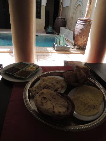 Riad Anjar: het ontbijt