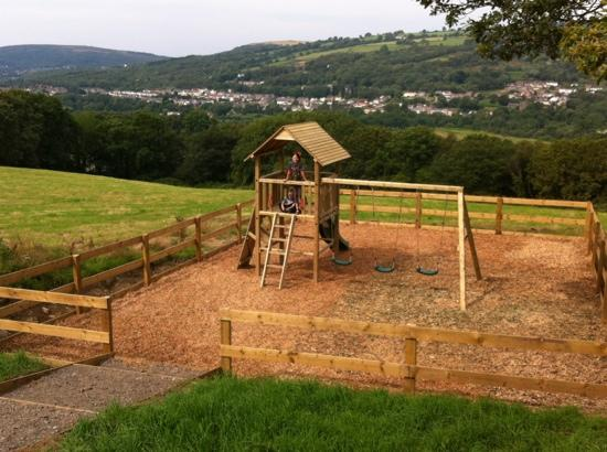 Cilhendre Fawr Farm Cottages: a beautiful view from the children's playground