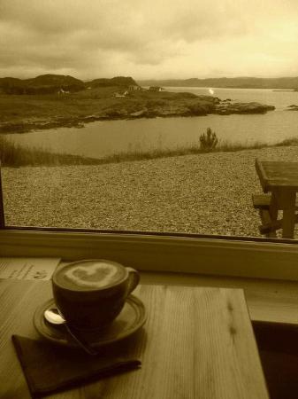 Perfume Studio: morning coffee overlooking Loch Ewe