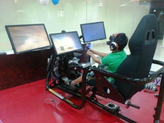 Flight 4 Fantasy: Our young champion enjoying the Fighter Experience