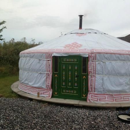 Caalm Camp: Outside View of the Yurt