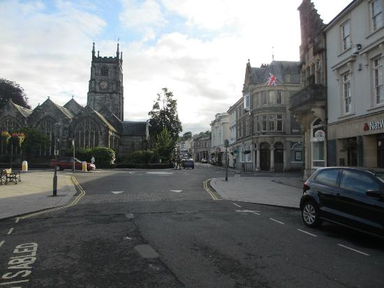 Tavistock, UK: church and square