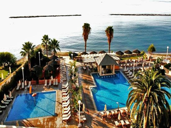 Atlantica Miramare Beach: Pool & beach view