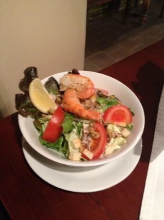 Alla Stella Nera : half a portion of shimps caesar salad
