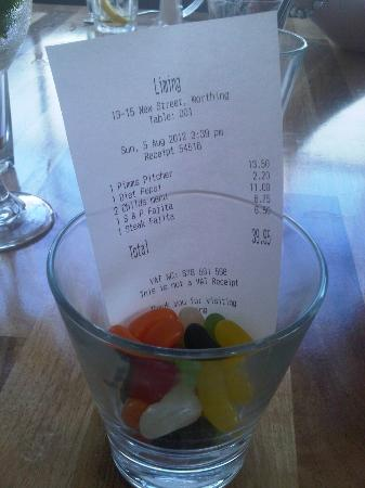 Liming Mexican Grill: Final Bill