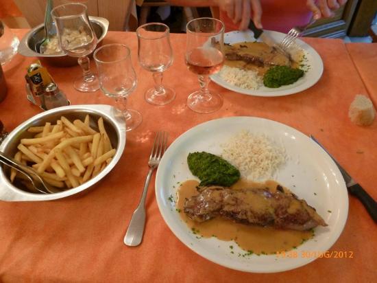 Restaurant du Grand-mont: Entrecote al beaufort