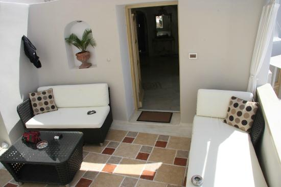 Art Maisons Luxury Santorini Hotels Aspaki & Oia Castle: Suite Eros - Terrazzino