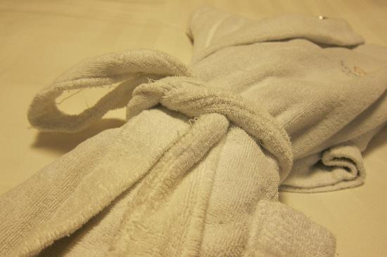 Somerset Palace Seoul: Overdue for Replacement Bathrobe provided in Room 1627