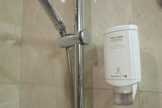 Somerset Palace Seoul: Only a 2-in-1 body wash and shampoo unit is provided