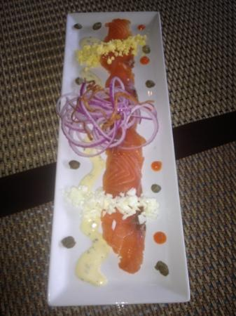The Hare & Hound Pub: cured salmon