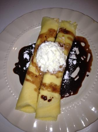 The Hare & Hound Pub: banana and Nutella crepes