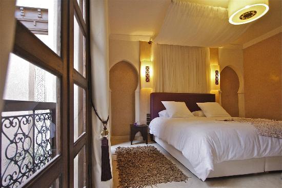 Riad Pourpre Médina: L'une des chambres que nous avons eu.