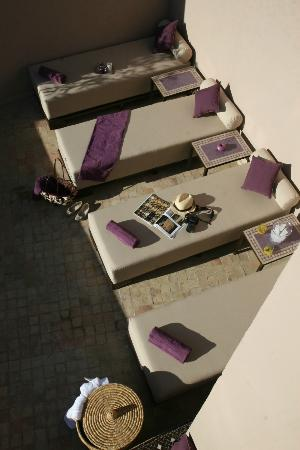 Riad Pourpre Médina: La terrasse solarium.