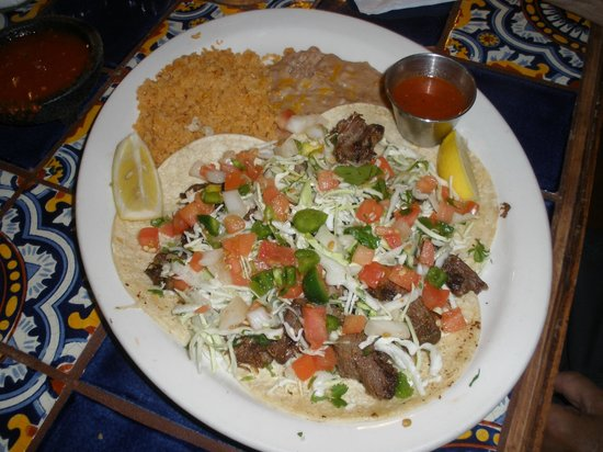 Tacos Oj: This is the Taco Lingua. Just as it says Lingua is tongue and it is so good.
