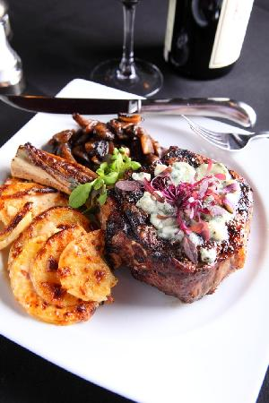 Maisano's By The Glass Wine Bar & Bistro: 14oz Bone-In Filet of Ribeye Certified Angus Beef Steak® Grilled To Perfection
