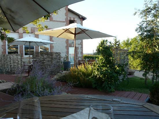 Restaurant la Petite Ecole: Terrasse