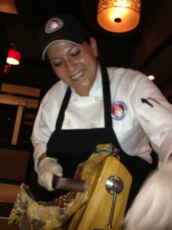 Le Bistro: Slicing the jamon