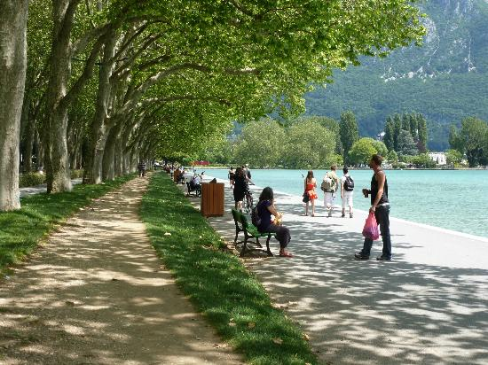 Office de Tourisme du Lac d'Annecy : Park/Promenade on the north side of the lake