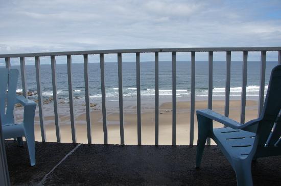 The Coho Oceanfront Lodge: Blick vom Balkon