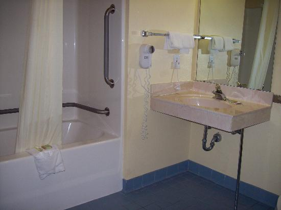 Super 8 Mt. Pleasant: Accessible bathroom