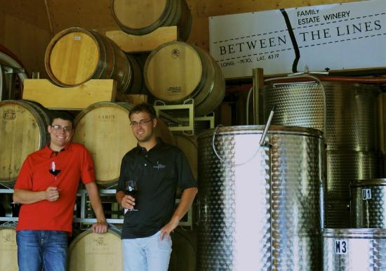 Yannick & Gregory Wertsch, owners of Between the Lines Winery