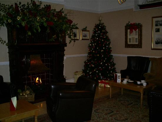 The White Swan Hotel: Lounge at Christmas