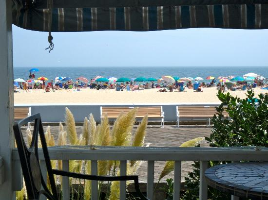 An Inn on the Ocean: Our perspective of the boardwalk and beach beyond