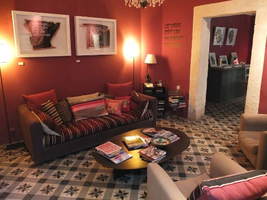 La Maison du Village : one of the relaxing areas