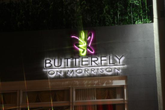 Butterfly On Morrison: Outside from street.