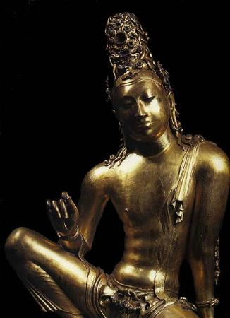 Lakpahana: Brass Bodhisathva statue
