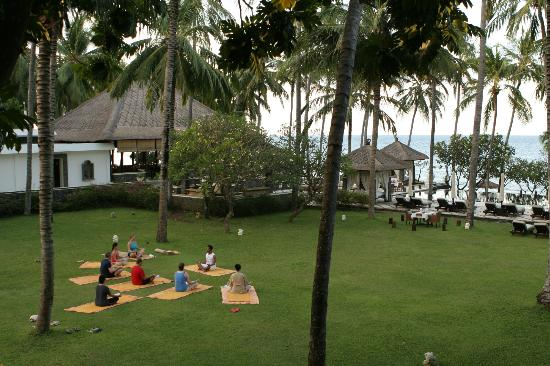 Spa Village Resort Tembok Bali: Morning Yoga