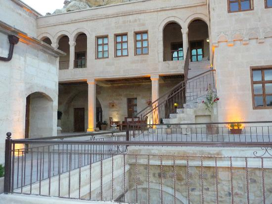"Fresco Cave Suites & Mansions: This is the couryard outside the entry to our room - the ""Yesari Cave Suite"""